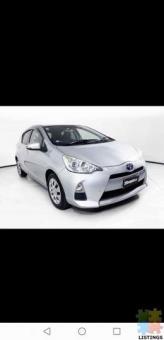 2014 Toyota aqua hybrid from $34.6 weekly