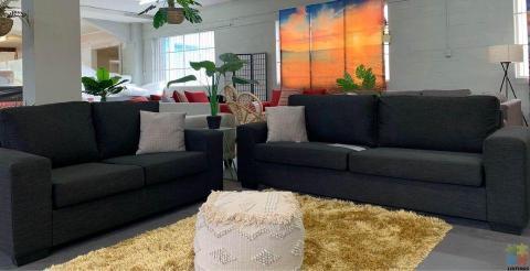 NEW ZEALAND Made Furniture city Boston 3.5 + 2 in Warwick fabric