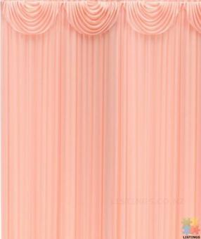 Ice silk backdrop with swag