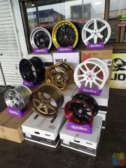 Deep dish, rota mags with tyres from $18 per week