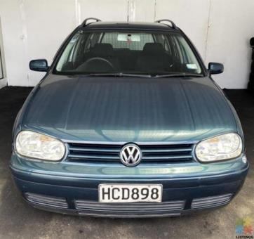 2004 Volkswagen golf wagon w/ towbar