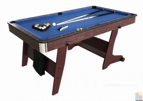 Brand New 6Ft Foldable Pool Table (Blue Cloth)