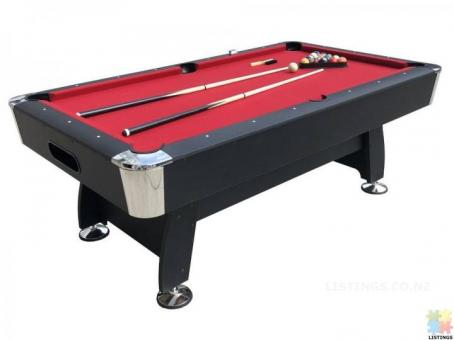 Brand New New 7Ft Pool Table With Auto Ball Return (Red Felt)