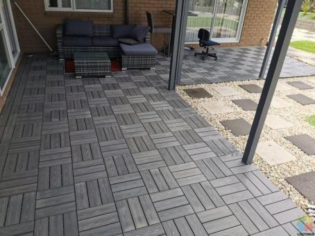 WPC deck flooring Composite tile DIY 300*300*24MM box price, Grey colour