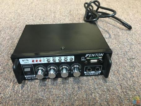 FENTON AV380BT Full Kareoke Set with 2 Microphones!!