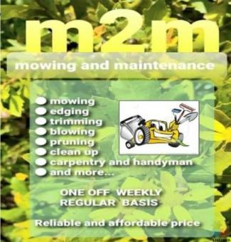 Lawn mowing and handyman job