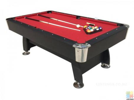 Brand New 7Ft Pool Table With Auto Ball Return (Red Felt)
