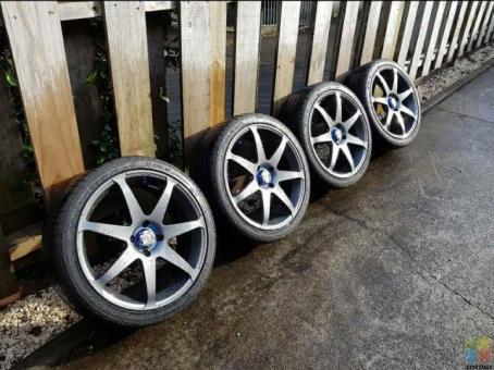 17 inch Rays wheels - Campionato SS (4x100) genuine