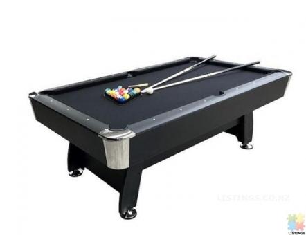 Brand New 7Ft Pool Table With Auto Ball Return (Black Felt)