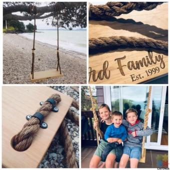 Personalised Macrocarpa & Rope Swings