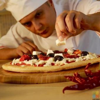 pizza chef and kitchen hand