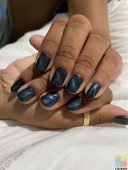 Cat eye gel nails