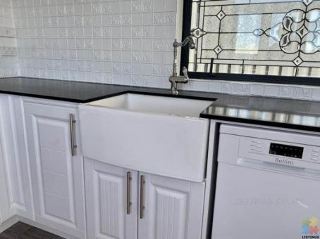 Huge white fire clay ceramic single farmhouse butler sink