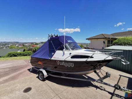 Boat 18ft (Fyran 560 Gulf Cruiser, wide beam)