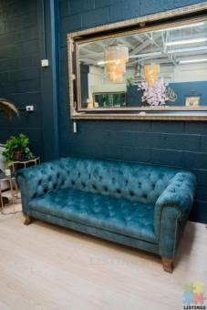 Alexander & James Violette Midi Sofa - Blue Velvet