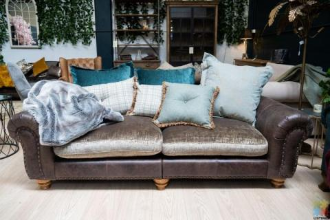 Bloomsbury Large Split Sofa Cal Smoke Velvet