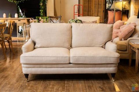 Victoria 2 Seater Sofa Belgium Linen – Cream