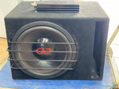 "DD AUDIO 15"" SUB WITH SOUND MAGUS MONO AMP"