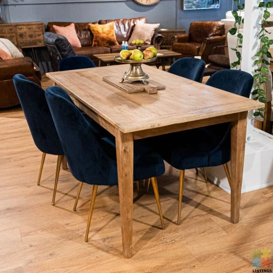 French Dining Table Reclaimed Elm 1.5M - 1/1
