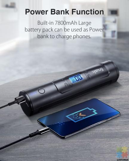 Cool Portable Air Pump with Powerbank battery - 4/10