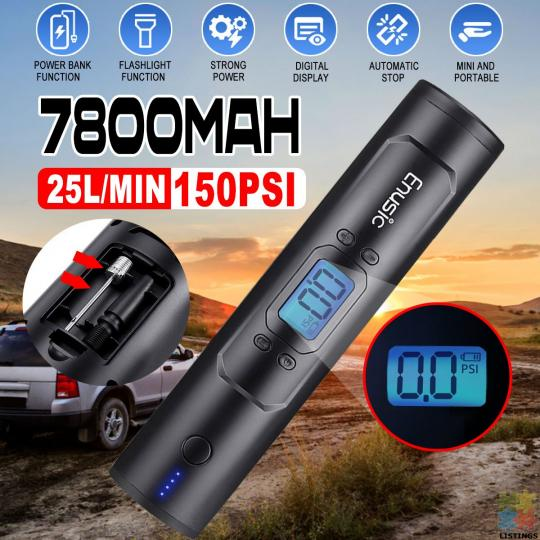 Cool Portable Air Pump with Powerbank battery - 5/10