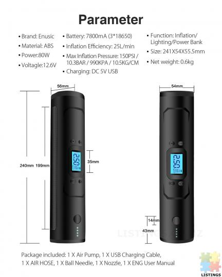 Cool Portable Air Pump with Powerbank battery - 6/10