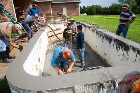 Swimming Pool Construction Staff