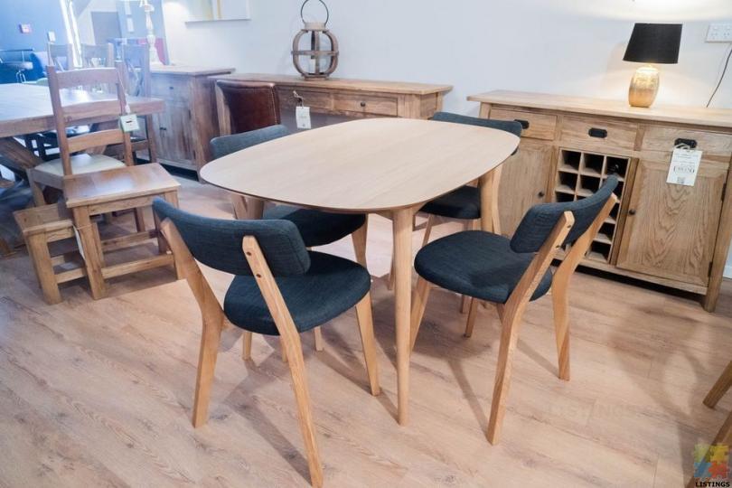Astrid Dining Table 1.2m & 4 x Kori Chairs - 1/2