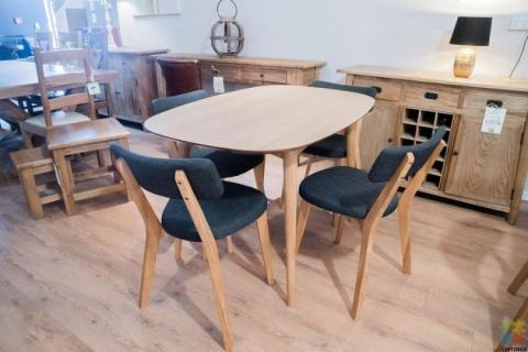 Astrid Dining Table 1.2m & 4 x Kori Chairs