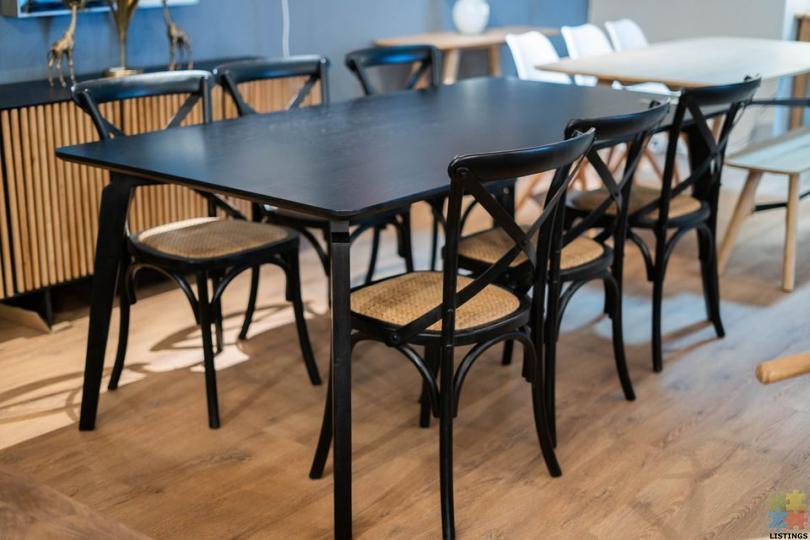 Nilsen Dining Table & 6 x Freya X-Back Chairs - 1/1