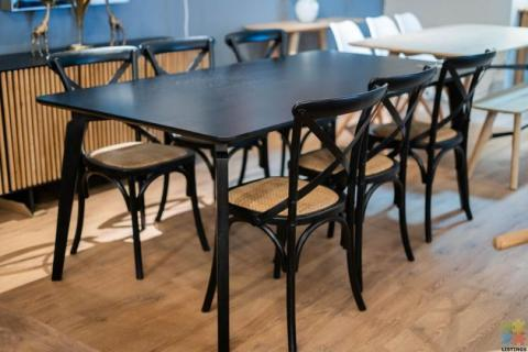 Nilsen Dining Table & 6 x Freya X-Back Chairs