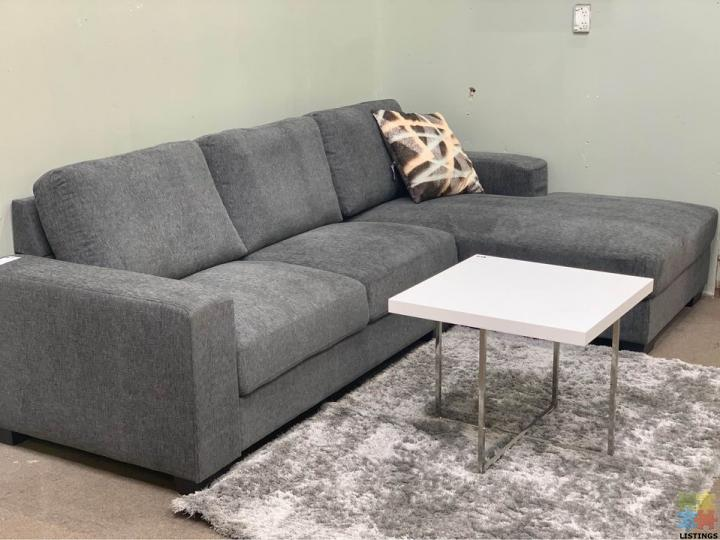 Brand new dark charcoal lounge suite (280*170cm) #item code J099 - 1/1