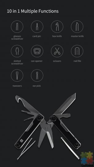 10 in 1 Folding Multi-function Tool - 7/10