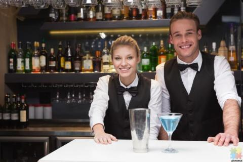 cocktail bartender/waitress & waiter