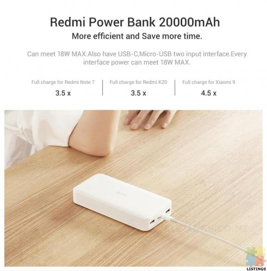 Redmi 20000mAh Power Bank 18W Fast Charge - 1/2