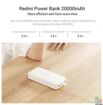 Redmi 20000mAh Power Bank 18W Fast Charge