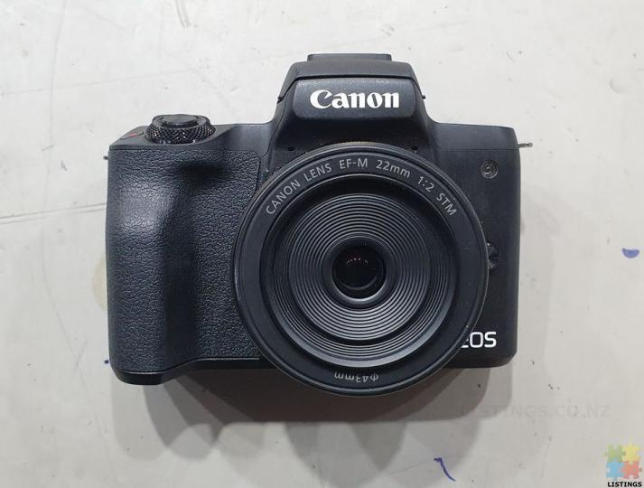 Canon EOS M50 Mirrorless Camera with 22mm Macro Lens - 1/2