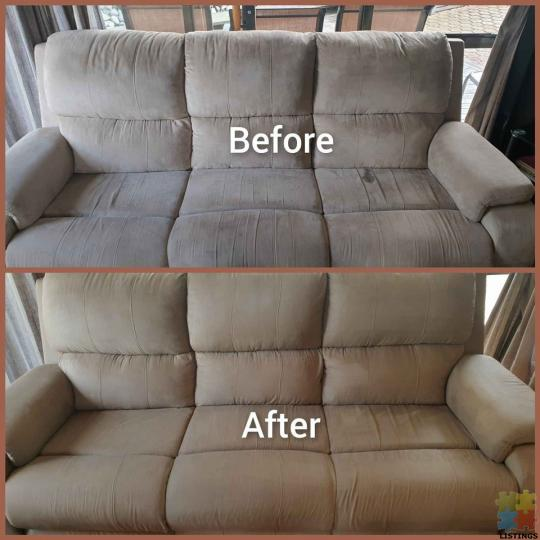 Sofa steam cleaning - 1/1