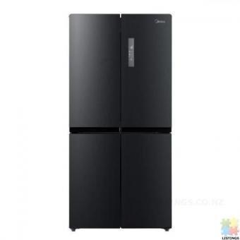 Brand New Midea 545L Cross Door Fridge Freezer Black Stainless Steel