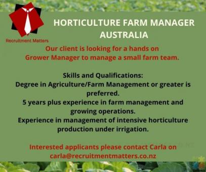 Do you have experience in management of intensive horticulture production under irrigation?
