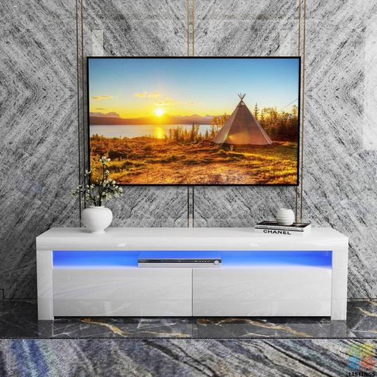 Brand new High Gloss RGB LED Lighting TV UNIT (160cm) - 1/1