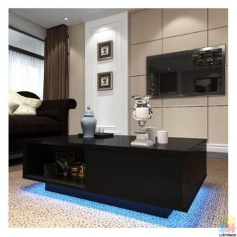 Brand new LED Lighting high gloss coffee table (Dimension;95*60*H32cm)