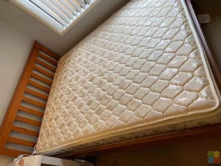 bed frame + mattress