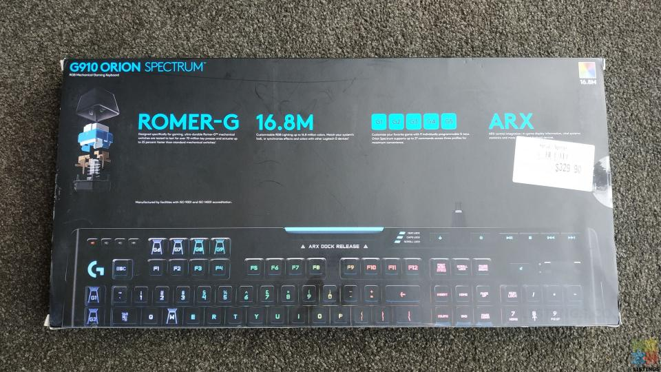 Logitech G910 Orion Spectrum RRP$330 - 3/5