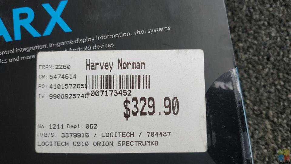 Logitech G910 Orion Spectrum RRP$330 - 4/5