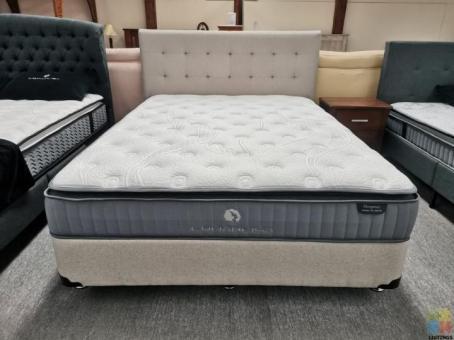 WINZ Approved Supplier Queen Bed 3pcs NZ Made Base, Pocket Spring Mattress