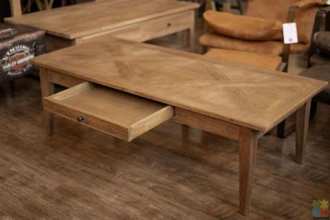 Elm Parqueterie 1 Draw Coffee Table