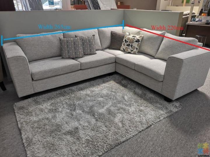 Brand New NZ Made Corner Lounge Suite 3+Corner+2 Seater - 1/2