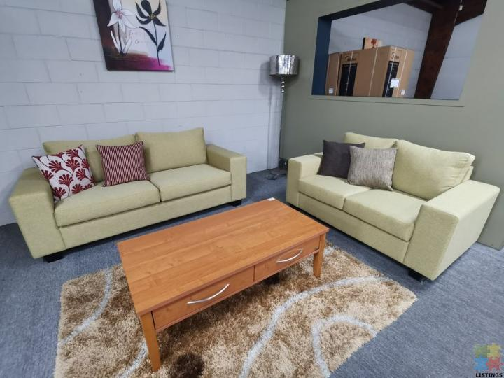 Brand New NZ Made Fabric Lounge Suite 3+2, Customised Sizes & Fabric Available - 1/1
