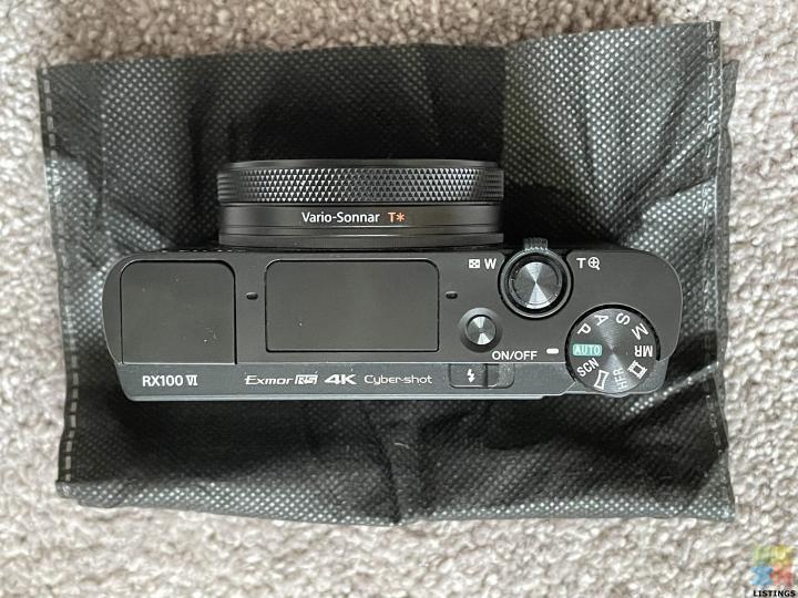 Sony Cyber-shot DSC-RX100 VI (Mark 6) Digital Camera - 3/4